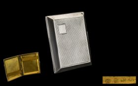 Silver Cigarette Case - hallmarked Birmingham 1927, vacant cartouche. Please see accompanying image.