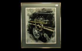 David Shepherd Print Study for Oil Muck and Sunlight.