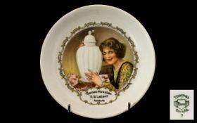 German Antique Porcelain Decorated Advert Dish - Thomas - Porzeilan E.B. Lattorff Hamburg.