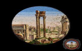 Italian Grand Tour Micro Mosaic Shaped Wall Plaque (Roman Workshops) circa 1820/30's,