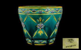 Minton Secessionist Period Pottery Plant Pot fully marked to base, RD. No. 616446, impressed 3811.