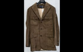 Ralph Lauren Sport Ladies Corduroy Coat size 12, in taupe brown colour, with top pockets, front