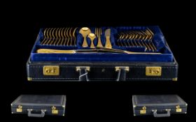 Rostfrei Germany Bestecke Solingen Excellent - 70 piece 24ct gold plated cantoon of cutlery.