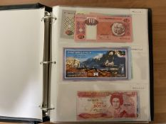 Banknote Album Containing A Quantity Of Mostly Modern Mint World Banknotes, Over 100 Countries,