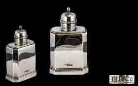 George V Fine Quality Britannia Silver Tea Caddy of Pleasing Form - Britannia silver standard 95%