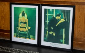 A Pair of Jack Vettriano Prints Titled Mirror and Night Geometry, Of Large size.