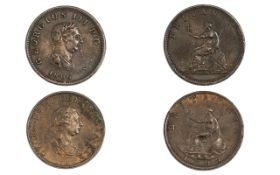George III Half Penny Date 1806 Good Grade, confirm with photograph.