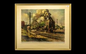 Terence Cuneo Evening Star The End of an Era Large Signed Print.