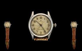 Rolex Oyster Royal Gentleman's Steel Cased Mechanical Wrist Watch circa 1944. 17 Jewel movement.