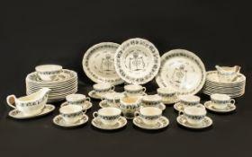Grindley Royal Cauldon Passover 67 Piece
