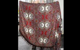 Paisley Antique Large Size Table Cloth w
