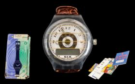 Swatch the Beep Retro Wrist Watch with L