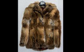Ladies Red Fox Jacket size 10, hip lengt