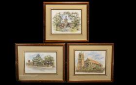 Three Original Watercolour Paintings - b