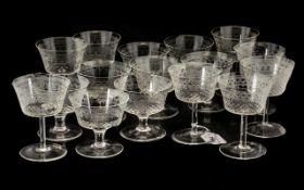 Two Sets of Sundae Glasses both with etc