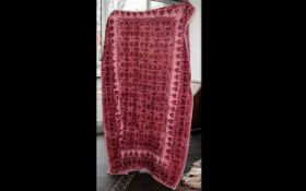 Victorian Large Hand Stitched Red Lancas