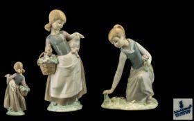 Lladro Porcelain Figures (2) - 1) Girl g