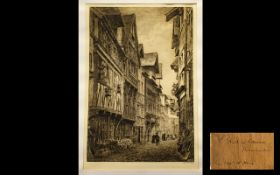 Axel H. Haig Etching Pencil Signed Publi