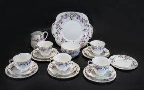 Staffordshire Bone China Crown Part Tea