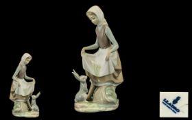 Lladro Porcelain Figure ' Rabbits Food '