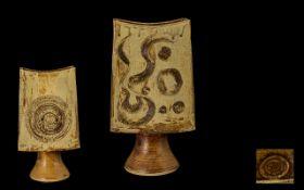 Hans Coper Style Stoneware Art Pottery V