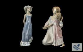 Lladro Porcelain Handpainted Figures (2)