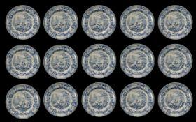 Staffordshire Antique Light Blue Glazed