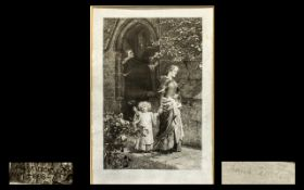 Frank Dicksee Pencil Signed Etching on V