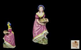 Coalport Early Hand Painted Figurine ' J