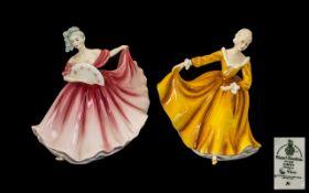 Royal Doulton Handpainted Figures (2) 1.