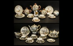 Two Oriental Part Tea Services to includ