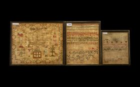 "Collection of Three Samplers two dated 1816 and one other, comprising one 16.5"" x 13."