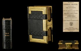 Bible of Small Size, Victorian Book of Church Services,