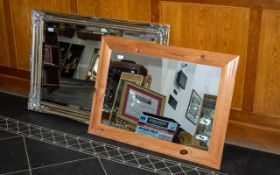 Modern Gilt Framed Mirror with decorative Rococco style edgings in shabby chic style. Bevelled