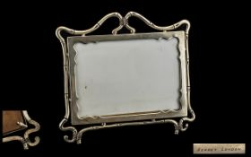 Asprey London Silver Photo Frame Late VictorianSilver Photograph Frame Of Rectangular Form With
