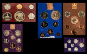 Coin Interest Collection of coin sets to include coinage of Britain 1970 74,