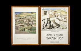 Pair of Charles Rennie Mackintosh Hunterian Art Gallery University of Glasgow Posters.