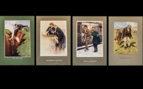 Three Lawson Wood Coloured Prints published by Richard Wyman and Company.