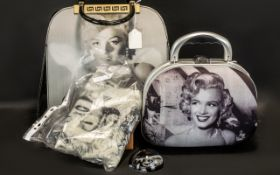 Marilyn Monroe Interest - comprising 1950s style Vanity Case by Rockability; large handbag with