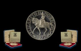 Royal Mint Silver Crown silver crown struck for the Queen's silver Jubilee.