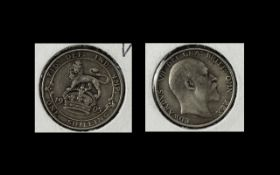 Edward VII 1905 Shilling, Key Date. Please see images.