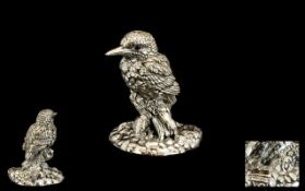 Silver Model of a Kingfisher.