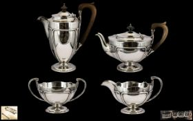 Queen Anne Style Top Quality Sterling Silver 4 Piece Tea / Coffee Service,