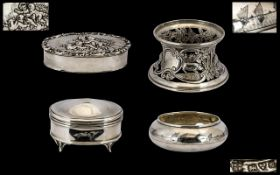 A Small Collection of Early 20th Century Sterling Silver Items (4) in Total.