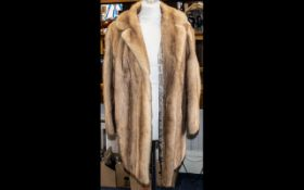 Beautiful Vintage Fox Fur Coat in excellent condition, lovely pale gold colour.