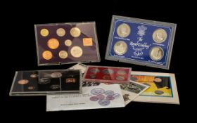 Coin Interest Coin Sets to include 1989 US uncirculated set Royal Wedding 1981 etc 7 sets in total.