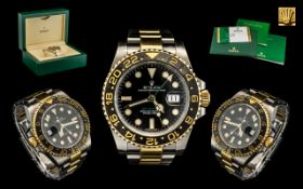 Rolex Oyster Perpetual Date Just GMT Master II Superlative Chronometer Gents Steel & 18ct Gold