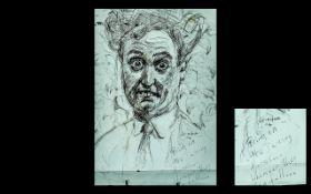 Ken Dodd Original Humorous Sketch of the
