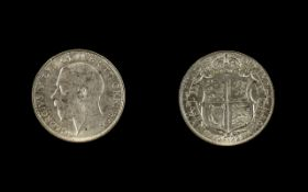 1923 George V Half Crown condition VF to