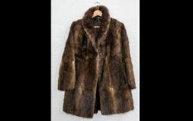 Ladies Three Quarter Length Fur Coat. S